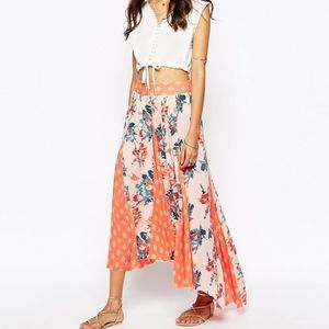 Free People Show You Off High Low Maxi Skirt XS